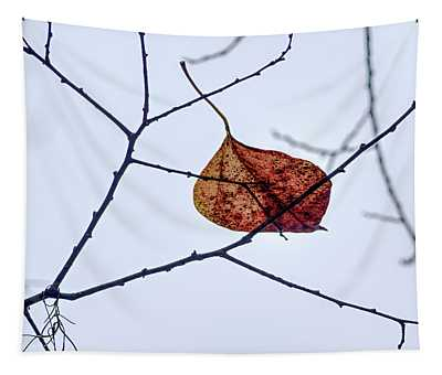 Leaf On Branch Tapestry