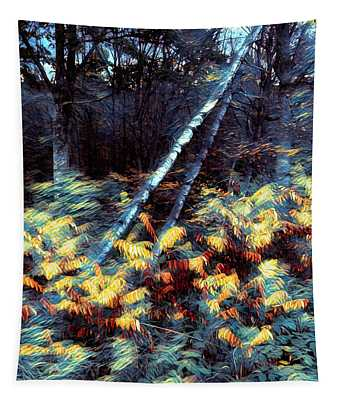 Leaning Birches Mindscape Tapestry