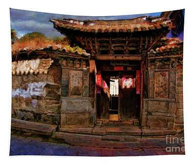 Leaning China Cottage Tapestry