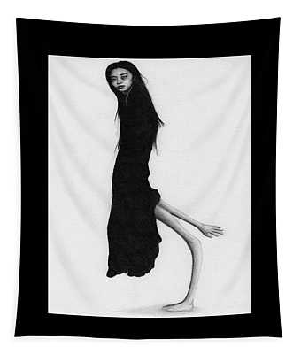 Leaning Woman Ghost - Artwork Tapestry
