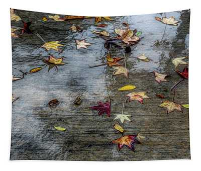 Leaves In The Rain Tapestry