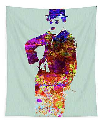 Legendary Charlie Watercolor Tapestry