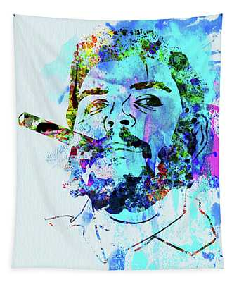 Legendary Che Watercolor Tapestry