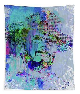 Legendary Clint Eastwood Watercolor Tapestry