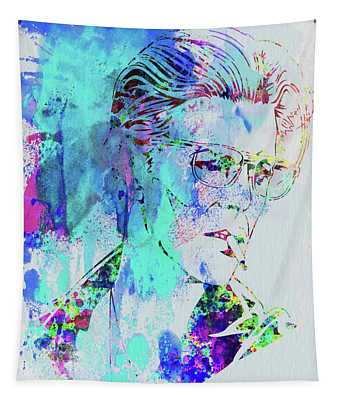 Legendary David Bowie Watercolor Tapestry