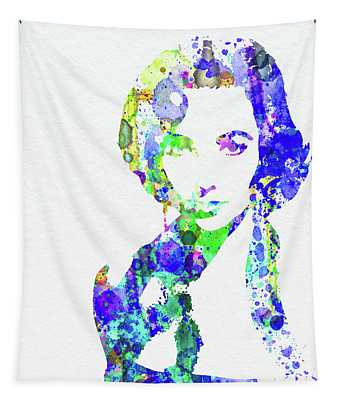 Legendary Elizabeth Taylor Watercolor Tapestry