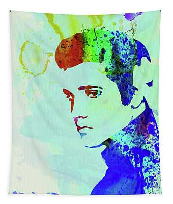 Legendary Elvis Watercolor I Tapestry