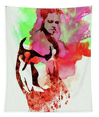 Legendary Fight Club Watercolor Tapestry