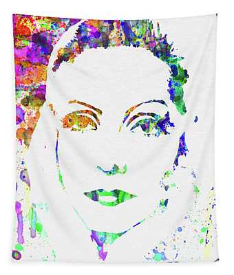 Legendary Ingrid Bergman Watercolor Tapestry