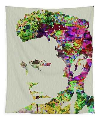Legendary James Dean Watercolor Tapestry