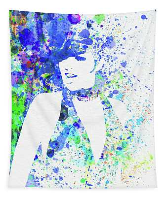 Legendary Liza Minnelli Watercolor II Tapestry
