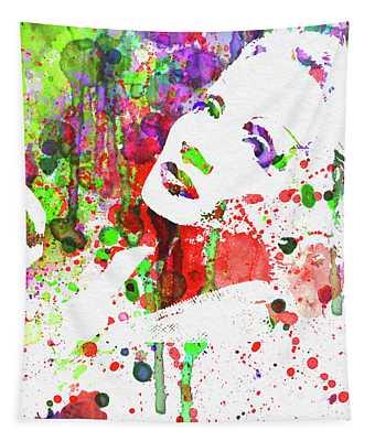 Legendary Marlene Dietrich Watercolor IIi Tapestry