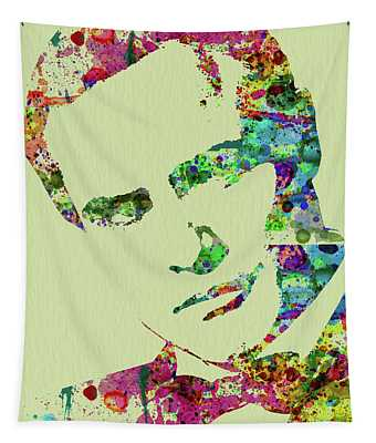 Legendary Marlon Brando Watercolor Tapestry