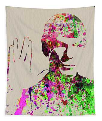 Legendary Spock Watercolor Tapestry