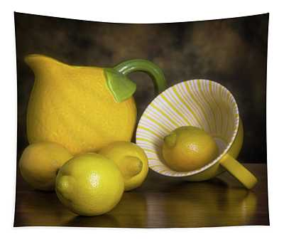 Lemons With Lemon Shaped Pitcher Tapestry