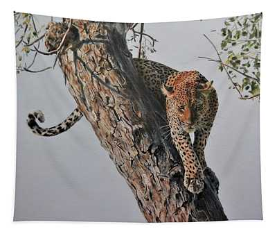 Ready To Pounce Tapestry