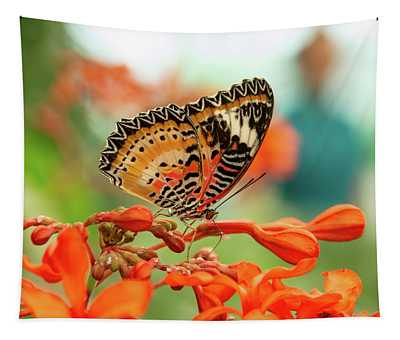 Leopard Lacewing Butterfly Tapestry