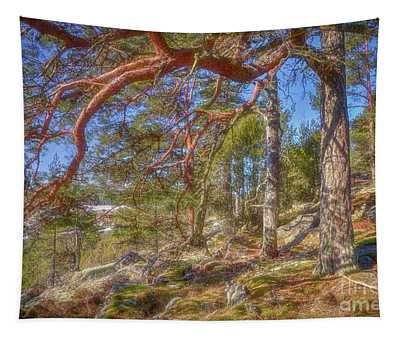 Let's Go To The Woods 2 Tapestry