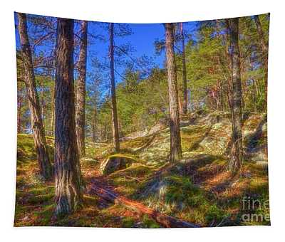 Let's Go To The Woods Tapestry