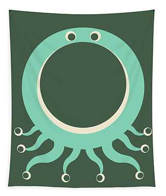 Letter O - Animal Alphabet - Octopus Monogram Tapestry