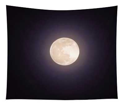 Tapestry featuring the photograph Libra Full Moon by Judy Kennedy
