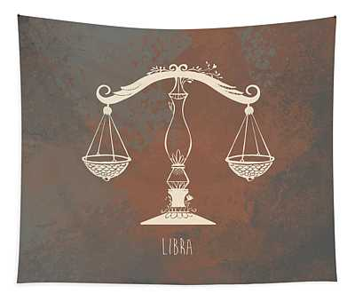 Libra Digital Art Wall Tapestries