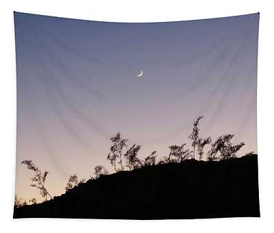 Libra Twilight Crescent Tapestry