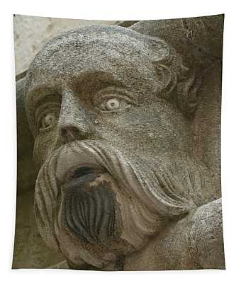 Life Sized Sculptures Of Human Heads Tapestry