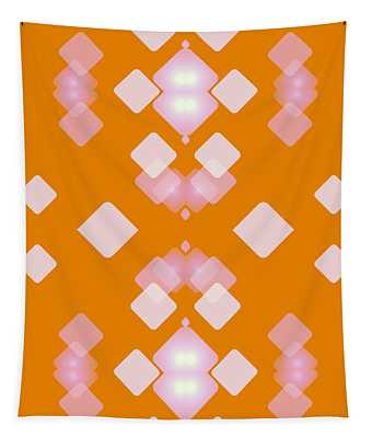 Light Dreams In Orange Tapestry
