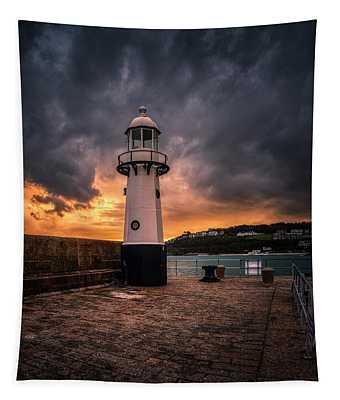 Lighthouse Dramatic Sky Tapestry