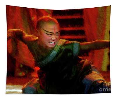 Like A Cat The Legend Of Kung Fu, Beijing, China Tapestry