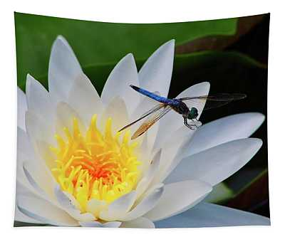 Lily And Dragonfly Tapestry