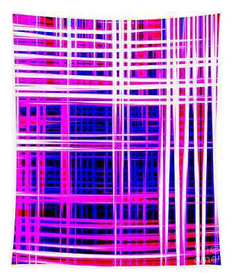 lines and squares in purple Color Waves - PL414 Tapestry