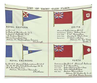 List Of Yacht Club Flags, From The Lloyds Register Of Shipping, 1881 Tapestry