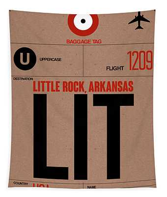 Lit Little Rock Luggage Tag I Tapestry