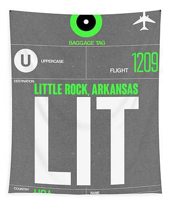 Lit Little Rock Luggage Tag II Tapestry