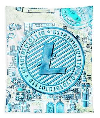 Litecoin Design Tapestry