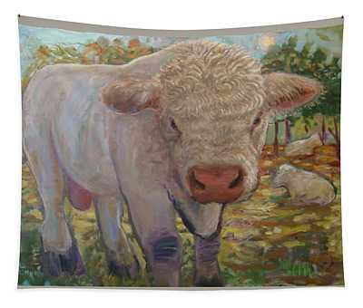 Little Big Bull Tapestry