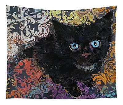Little Black Kitten Tapestry