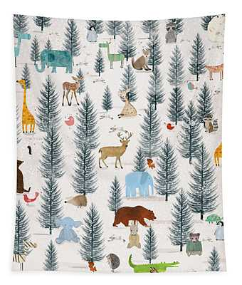 Little Nature Wood Tapestry