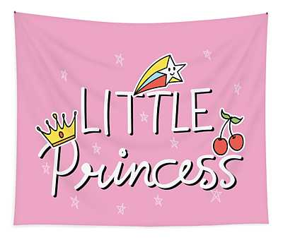 Little Princess - Baby Room Nursery Art Poster Print Tapestry