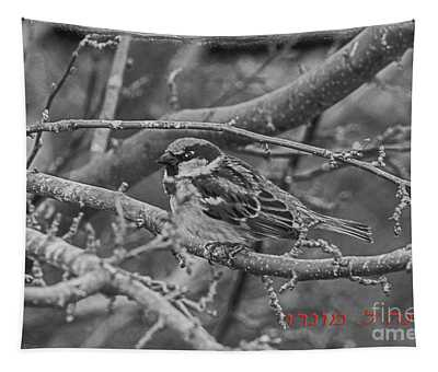 Little Sparrow B And W Tapestry