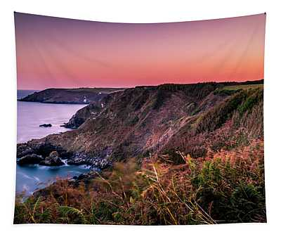 Lizard Point Sunset - Cornwall Tapestry