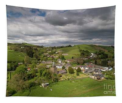 Llangurig From The Air Tapestry