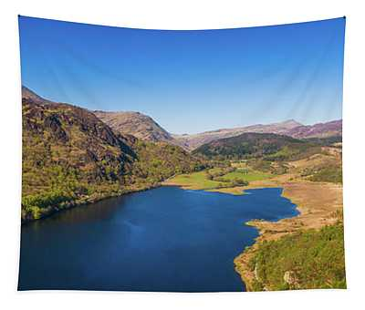 Llyn Dinas, Snowdonia From The Air Tapestry