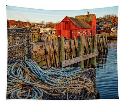 Lobster Traps And Line At Motif #1 Tapestry