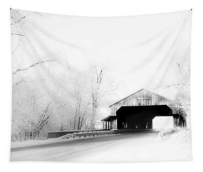 Lockport Covered Bridge Tapestry