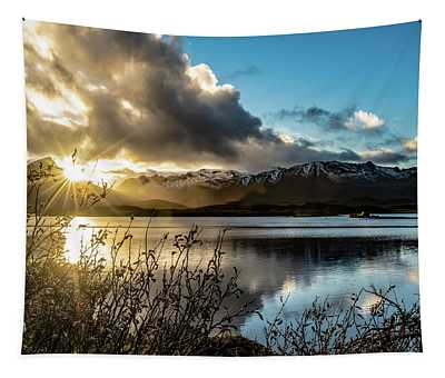Lofoten Sunset Tapestry