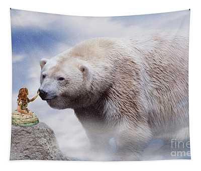 Lolita And The Bear Tapestry