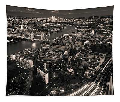 London At Night Tapestry
